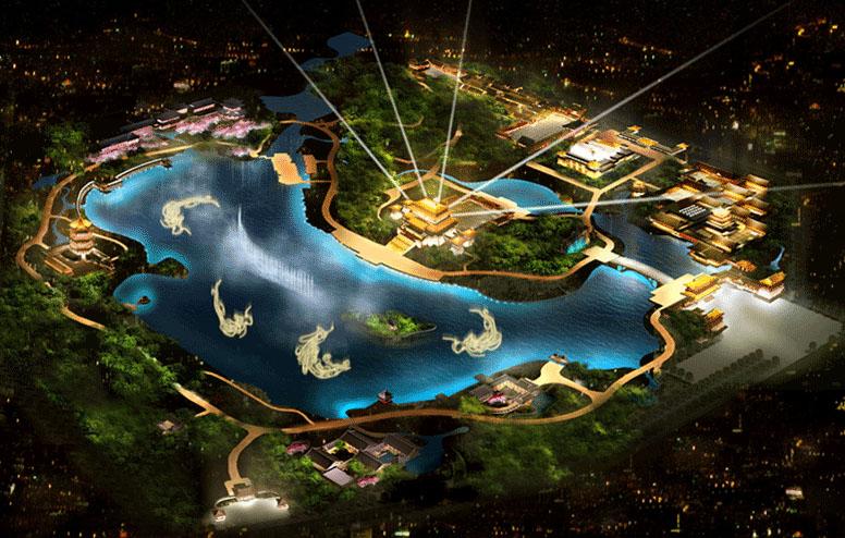 中国西安 大唐芙蓉園観光ガイド地図