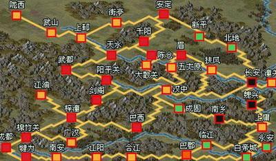 陝西省西安五丈原辺りの観光ガイド地図